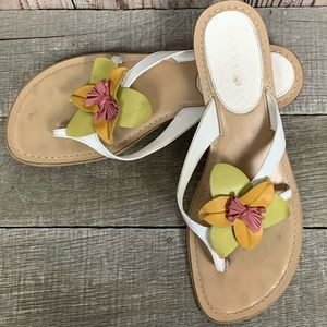 fc6189fbf507e9 Laura Ashley sandals with leather flowers j256